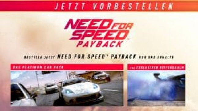 Need for Speed: Payback – Die Versionen und Vorbesteller Boni