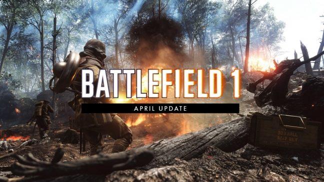 Battlefield 1: Das April Update ist da! Wir haben die offiziellen deutschen Changenotes und mehr für euch!