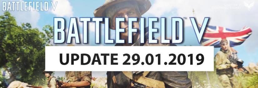 Battlefield V: Termine für zweites Januar Update, der vollständige Changelog und neues Fahrzeug kommt ins Spiel