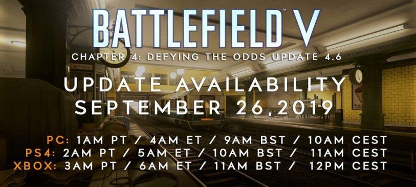 Battlefield V: Alles was ihr zum Update 4.6 wissen müsst: Changelog, Update Zeiten und Downloadgröße!