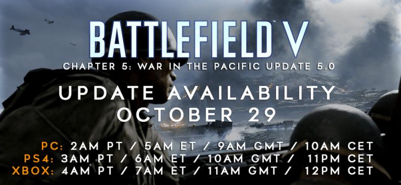 Battlefield V: Alles was ihr zum heutigen Update 5.0 wissen müsst: Changelog, Update Zeiten und Downloadgröße!